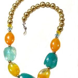 Silver-tone bracelet earrings Necklace Set